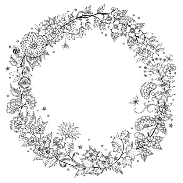rose garland coloring pages - photo#42